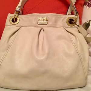 Coach Madison Hippie purse/crossbody (CreamGold)